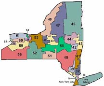 Map Of New York Districts.Find Your Senator Zip Code Lookup Ny District Maps And Contact Info